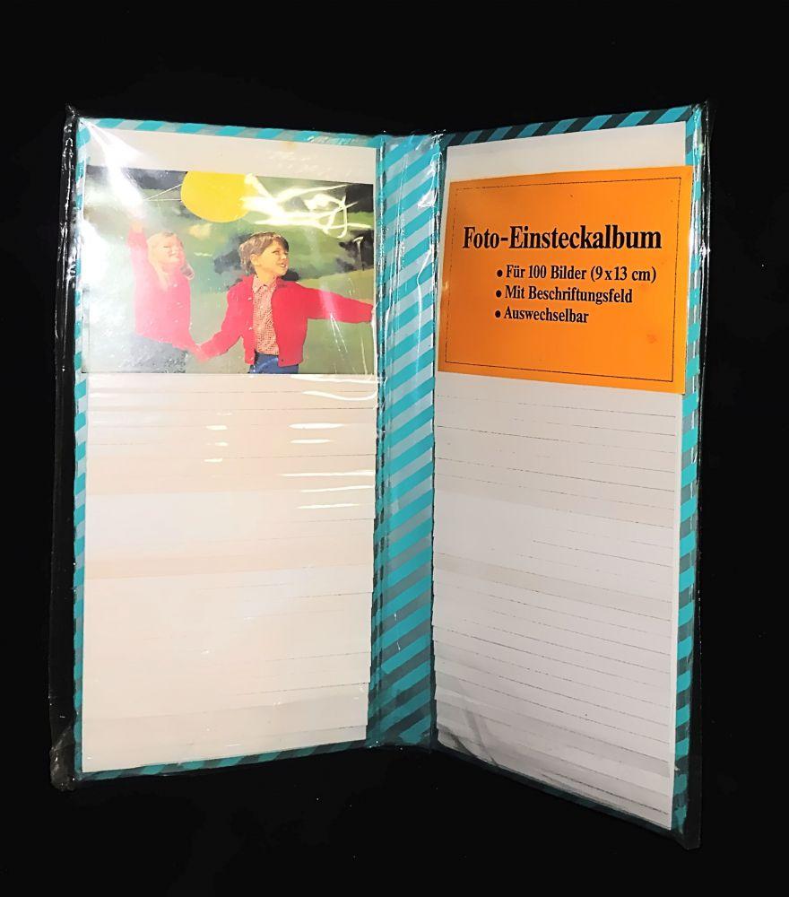 Einsteck-Fotoalbum für 100 Bilder 9 x 13 cm türkis