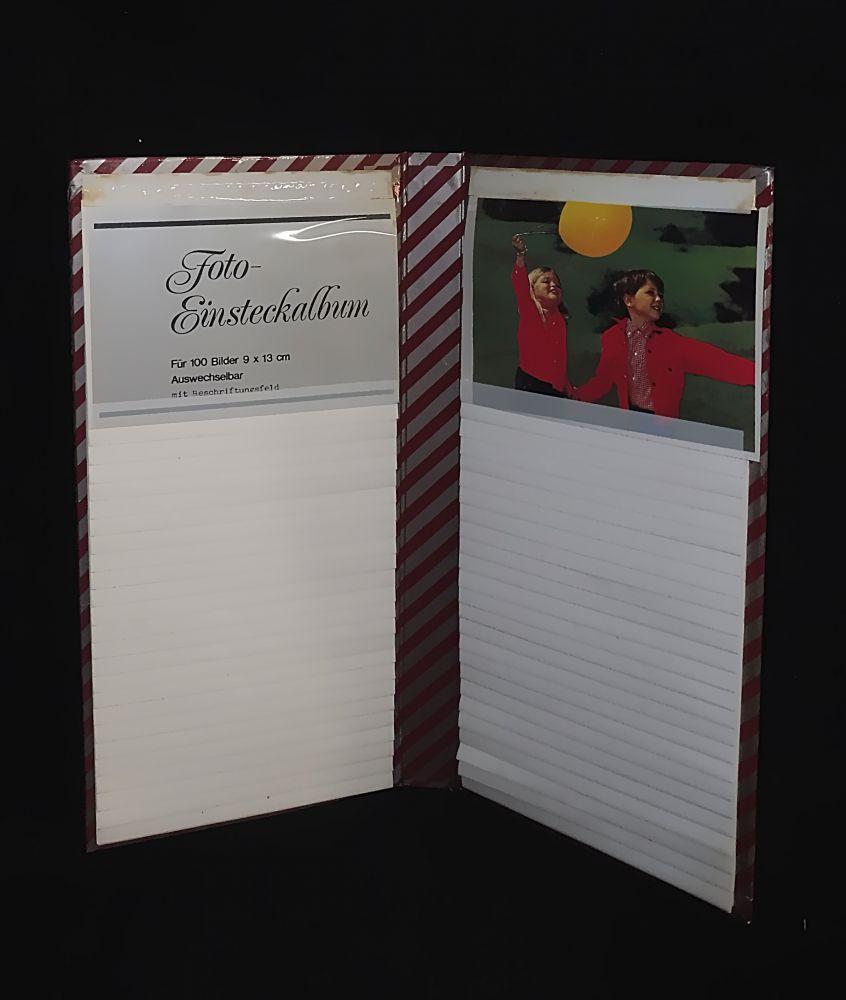 Einsteck-Fotoalbum für 100 Bilder 9 x 13 cm rot
