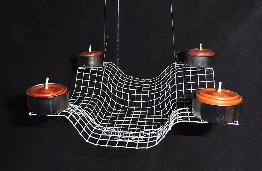 Advents Teelichtleuchter zum Aufhängen