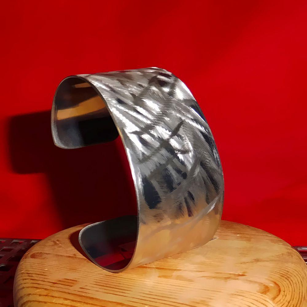 Edelstahl Armreif 185 x 38 mm