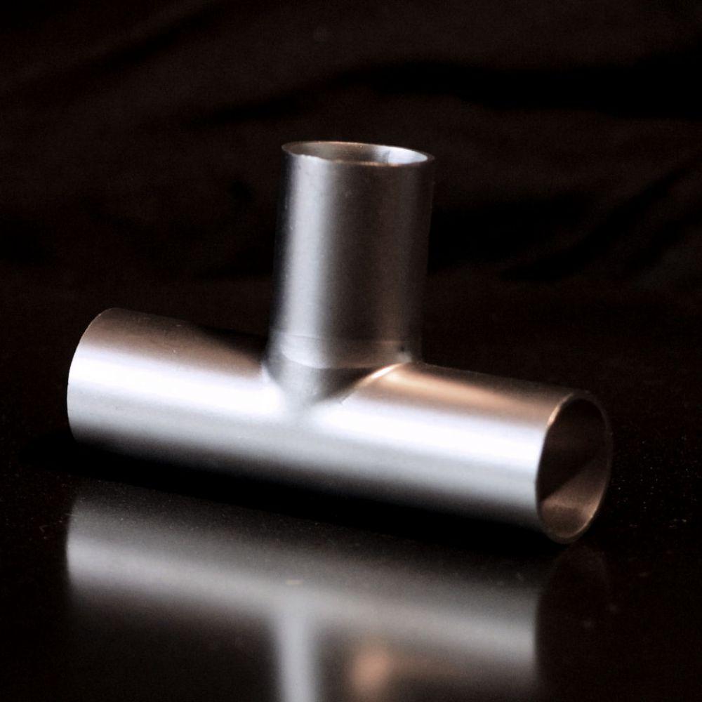 T-Stück Edelstahl Ø 28 x 1,5 mm Rohr Abzweig