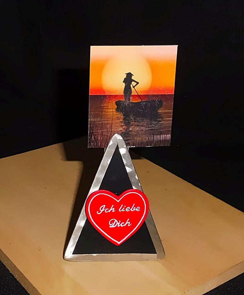 Memo-Clip mit rotem Herz: Ich liebe Dich