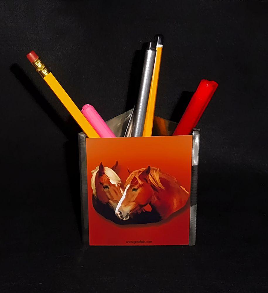 Edelstahl Stiftständer mit auswechselbarem Foto