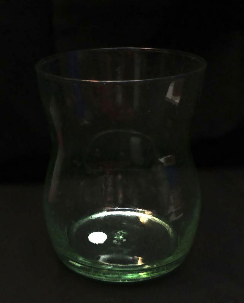 Deko Glas Vase 17 cm