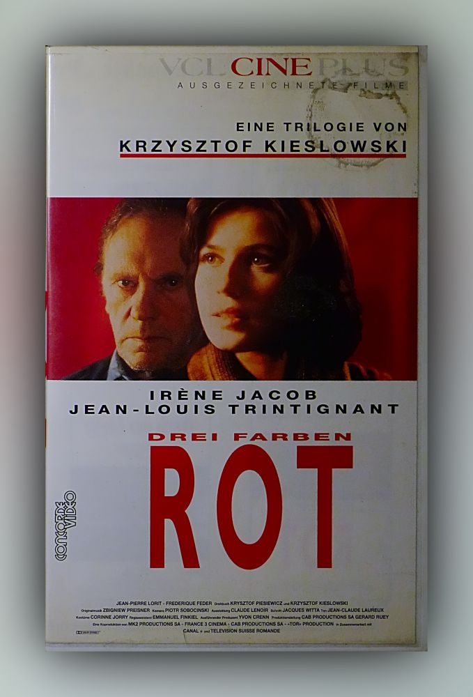 Krzysztof Kieslowski - Drei Farben - Rot - VHS