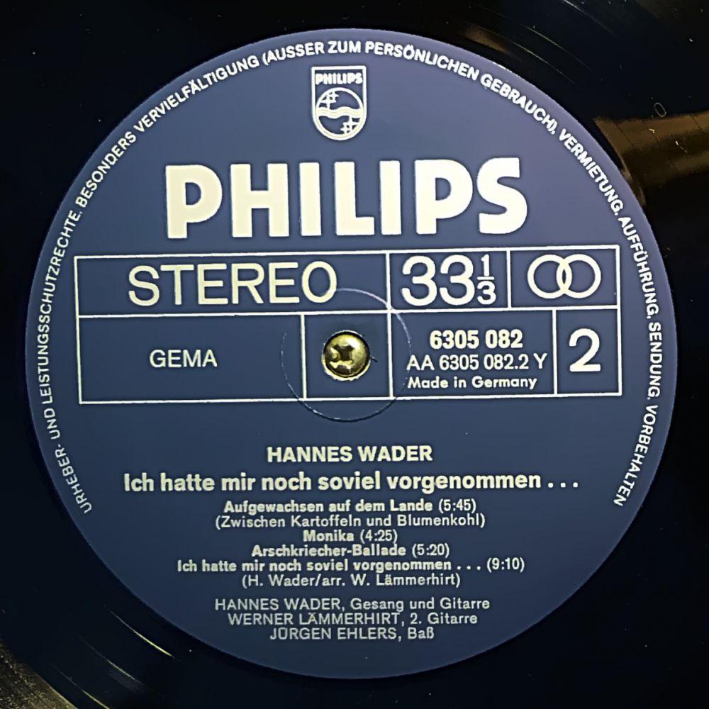 Hannes Wader - Ich hatte mir noch so viel vorgenommen - Vinyl