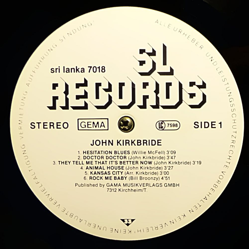 John Kirkbride - Sourdough, Corn and Hot Biscuits - Vinyl
