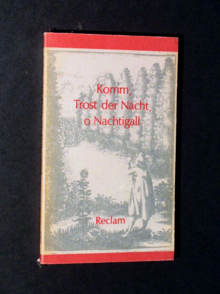 Horst Hartmann - Komm, Trost der Nacht, o Nachtigall - Buch