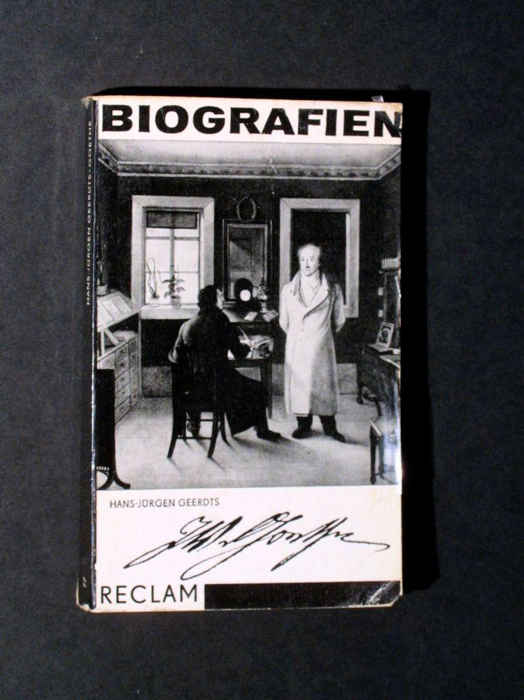 Hans Jürgen Geerdts - Johann Wolfgang Goethe - Buch
