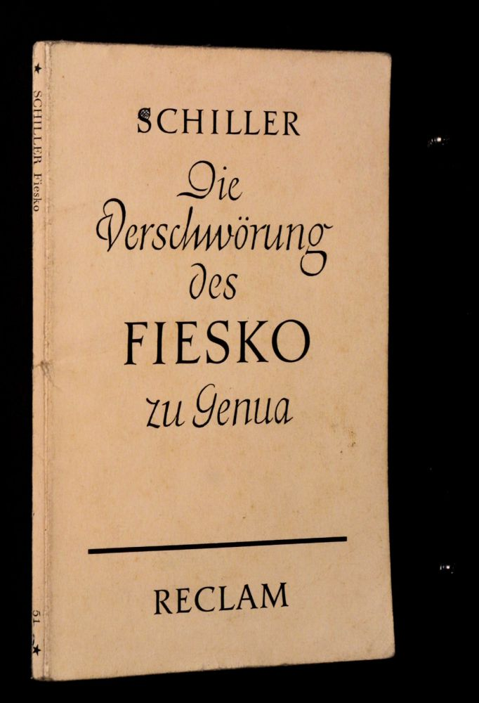Friedrich Schiller - Die Verschwörung des Fiesko zu Genua - Buch