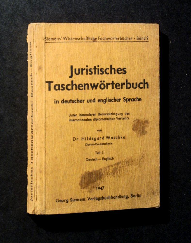 Hildegard Waschke - Juristisches Taschenwörterbuch in deutscher und englischer Sprache - Buch